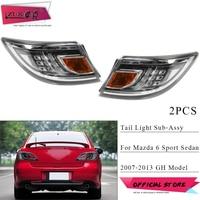 ZUK 2PCS Rear LED Tail Light Tail Lamp For Mazda 6 Sport Sedan Liftback GH 2007 2008 2009 2010 2011 2012 2013 Taillight Sub Assy