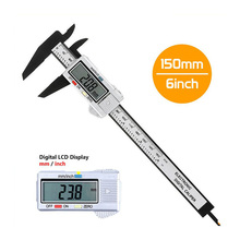 100mm 150mm Electronic Digital Caliper Carbon Fiber Vernier Gauge Micrometer Measuring Tool Ruler new