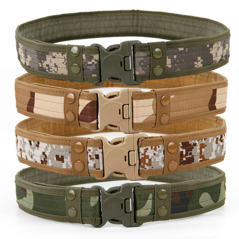 2019 Hot Mens Tactical Belt Military Nylon Belt Outdoor Multifunctional Training Belt High Quality Camouflage Waist Strap