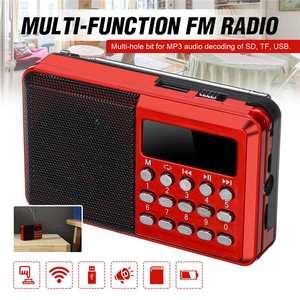 Best Portable Radio Handheld Digital FM USB TF MP3 Player Radio Receiver DC 5V 0.5A Speaker USB Charging Cable