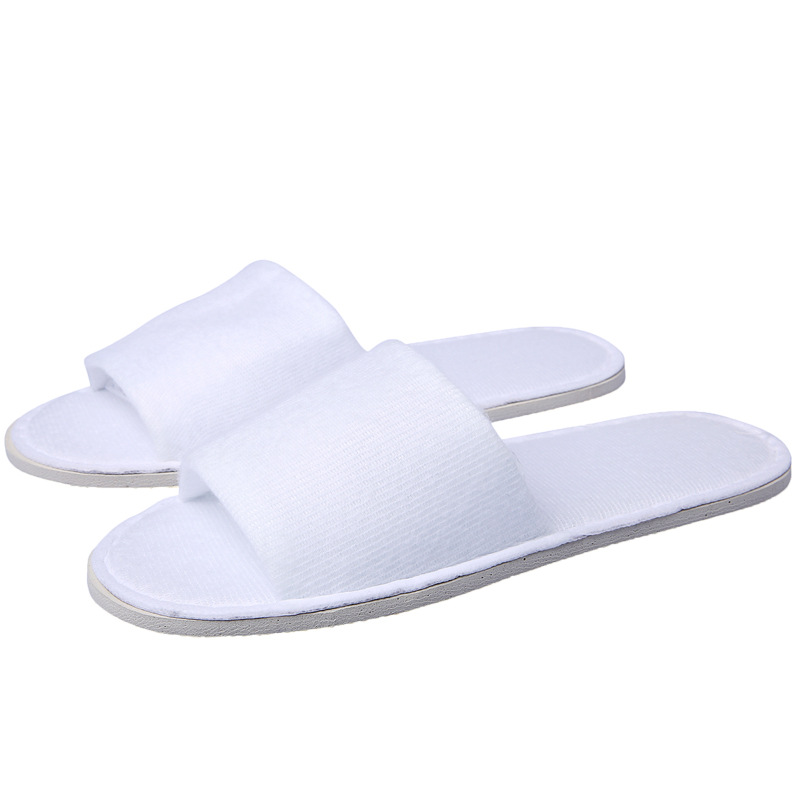 20 Pair Disposable Slippers Spa Hotel Guest Slippers Open Toe Towel Indoor Disposable Slippers