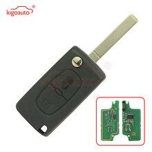 Ce0536 откидной ключ 2 кнопки va2 434 МГц с чипом id46 для citroen