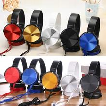 3.5mm Audio On Ear Headphones with Mic PC Tablet Laptop Fold