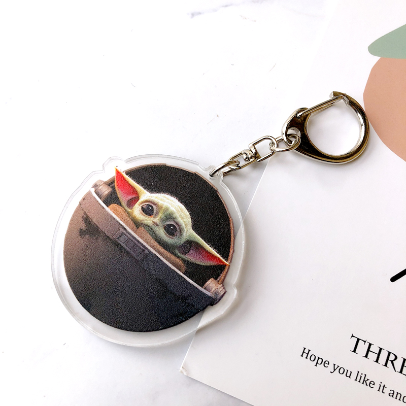 6 Styles Yoda Baby Cartoon Keychain Women And Men Key Chain Cute Anime Cartoon Kids Key Ring Gift