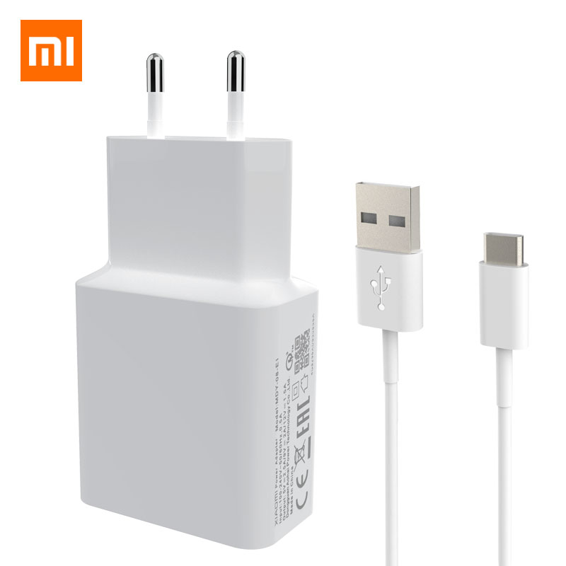 Xiaomi Original <font><b>Charger</b></font> 2.5A 9V/2A EU Quick Fast QC 3.0 Type-C <font><b>USB</b></font> Data Cable Travel Charging Adapter For Mi <font><b>5</b></font> 6 8 Redmi Note 7 image