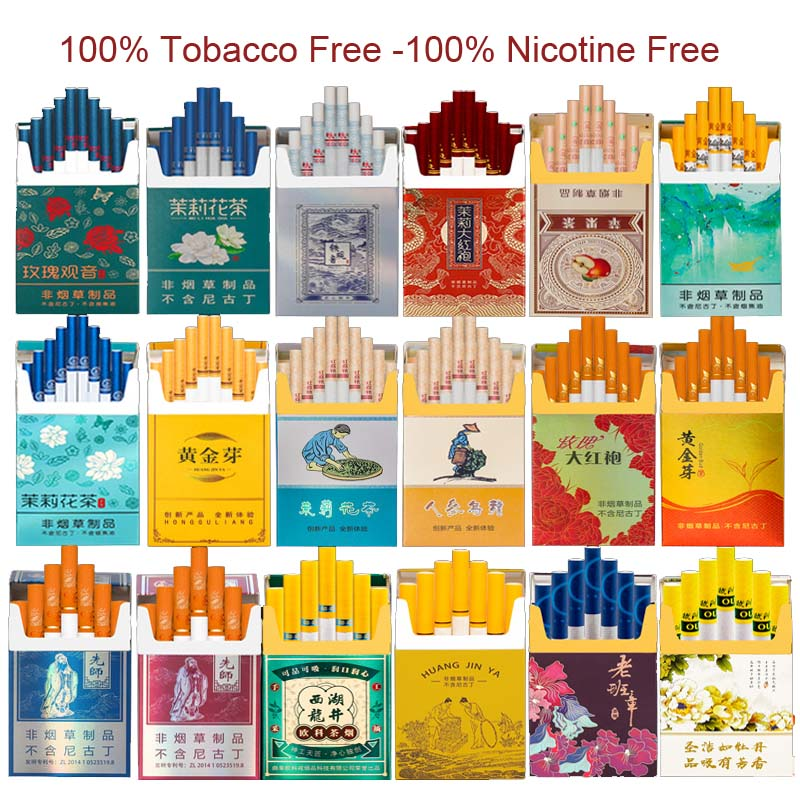 5 Pack/lot Tea CigaretteHerbal Cigarettes Clearing Lung To Quit Smoking No Nicotine & Tobacco Fine Cigarettes Wholesale