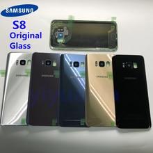 S8 Batteria Originale Della Copertura Posteriore di Vetro del Portello Custodia di Ricambio Per Samsung Galaxy S8 G950 G950F G950FD SM G9500 + Colla Impermeabile
