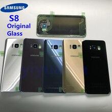 S8 Original Habitação Porta Da Bateria Tampa Traseira de Vidro de Substituição Para Samsung Galaxy S8 G950 G950F G950FD SM G9500 + Cola À Prova D Água