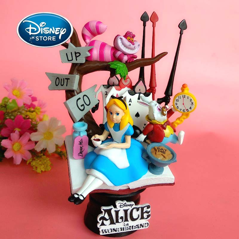 Disney Princess Doll Alice In Wonderland Action Figure Anime Decoration PVC Collection Figurine Girl Toy Model For Children Gift