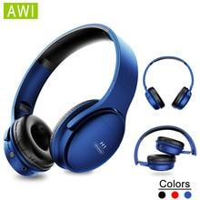 AWI H1 Bluetooth אוזניות אלחוטי אוזניות סטריאו על אוזן רעש ביטול אוזניות משחקי אוזניות עם מיקרופון תמיכת TF כרטיס