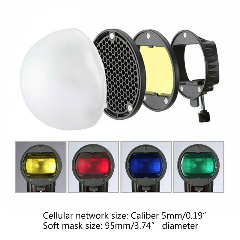 Magnetic Mount Adapter Honeycomb Grid Reflector Color Gel Filters Diffuser Ball  X6HB