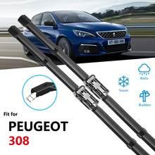 Peugeot 308 için 2007 ~ 2019 Hatchback SW CC T7 T9 silecek bıçak araba aksesuarları çıkartmalar cam silecekleri 2008 2013 2014 2018 2019