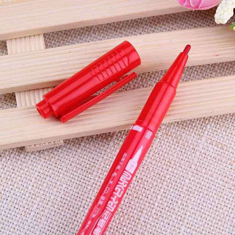 Çabuk kuruyan su geçirmez kalıcı İşaretleyiciler çift kafa çizim kroki yağlı kalem Finliner grafik tasarım işaretleyici kırtasiye hediyeler