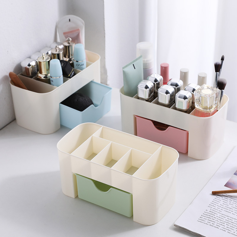 2020 Plastic Makeup Organizer Box Cosmetics Storage Container Lipstick Holder Jewelry Drawer Organizer Sundries Case Makeup Box
