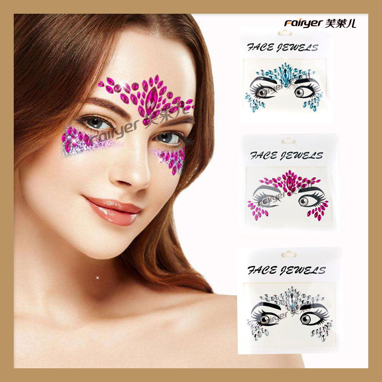 DIY Jewelry Bindi New Style Acrylic Diamond Face Pasters Party Eye Makeup Christmas Environmentally Friendly Tattoo Sticker