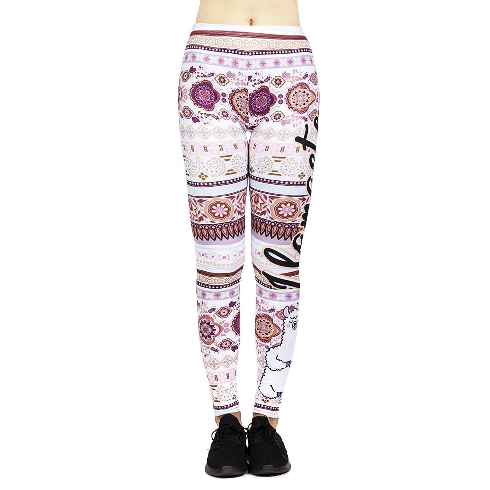Fashion Sexy Leggins Mujer Llamaste Printing Legging Feminina Leggins Fitness Woman High Waist Pants Workout Leggings