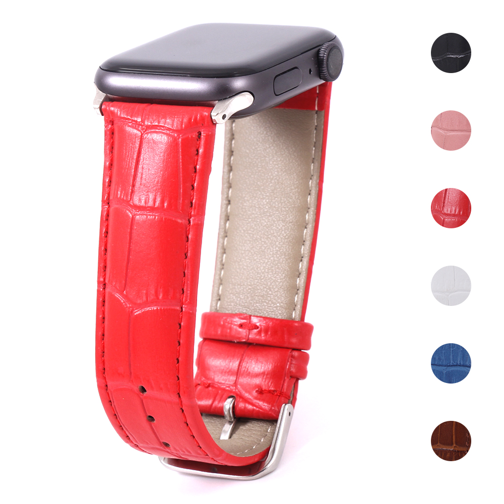 Strap Band For Apple Watch 5/4/3/2/1 Leather 42mm 38mm Bracelet Strap For Iwatch Series 40mm 44mm Watchband