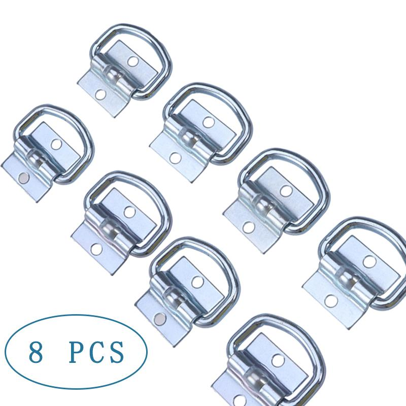 8pcs Car Trailer Tie Down D Ring Load Anchor Trailer Forged Lashing Towing Ring Metal Remolque Ring Trailers For Car Truck RV|Trailer Couplings & Accessories| |  - title=