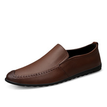 Men #8217 s Loafers New Casual Business Male Flat Shoes Spring Summer Lazy Work Breathable Mens Driving Flat Sneakers Size 37-47 cheap EUDILOVE Genuine Leather Cow Leather Slip-On Solid Fits true to size take your normal size Waterproof NONE Spring Autumn