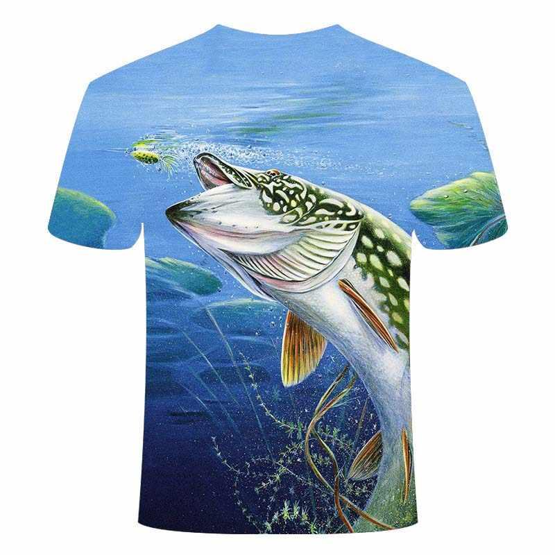 새로운 3D 낚시 t 셔츠 레저 t-셔츠 3D 재미 있은 물고기 남자/여자 디지털 인쇄 tshirt 힙합 t-셔츠 하라주쿠 아시아 크기 S-6XL