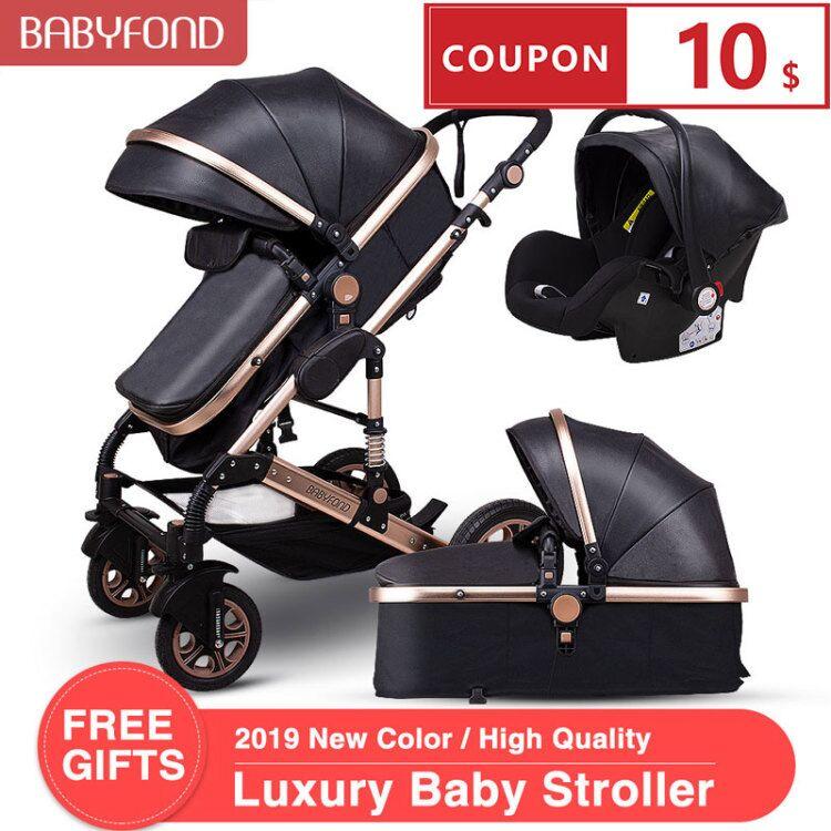 3 em 1 carrinhos de bebê e cesta de dormir recém-nascido 2 em 1 carrinho de bebê europa bebê um pacote com assento de carro