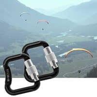 2 teile/los 20KN Abseilen Paragliding Gleitschirm Fallschirm Snap Auto Lock Karabiner Outdoor Werkzeuge