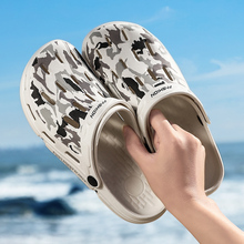 2019 New Camouflage Men Pool Sandals Summer Outdoor Beach Shoes Slip On Garden Clogs Casual Water Shower Slippers Flip Flop