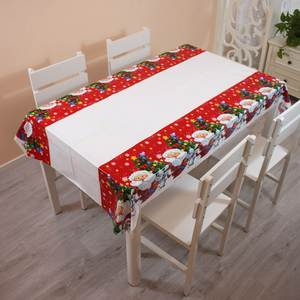 Table-Cloth Decorations Plastic Dinner New-Year Party Printed Santa-Claus PE