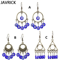 Fashion Retro Women Earrings Trend National Charm Lady Blue Eyes Pendant Jewelry Small Accessories Gifts