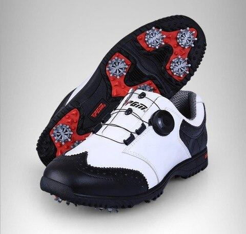 Sapatos à Prova Sapatos para o Tamanho Golf Sapatos Super Couro Esporte Dwaterproof Água Respirável Anti Skid Masculino Eur 39-44 2020 Pgm Men