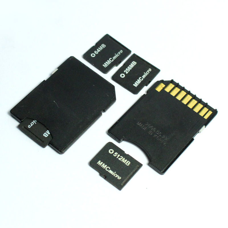 64MB 128MB 256MB 512MB 1GB Micro MMC Card Micro MultiMedia Card With Card Adapter Memory Card For Old Cellphone Camera Card