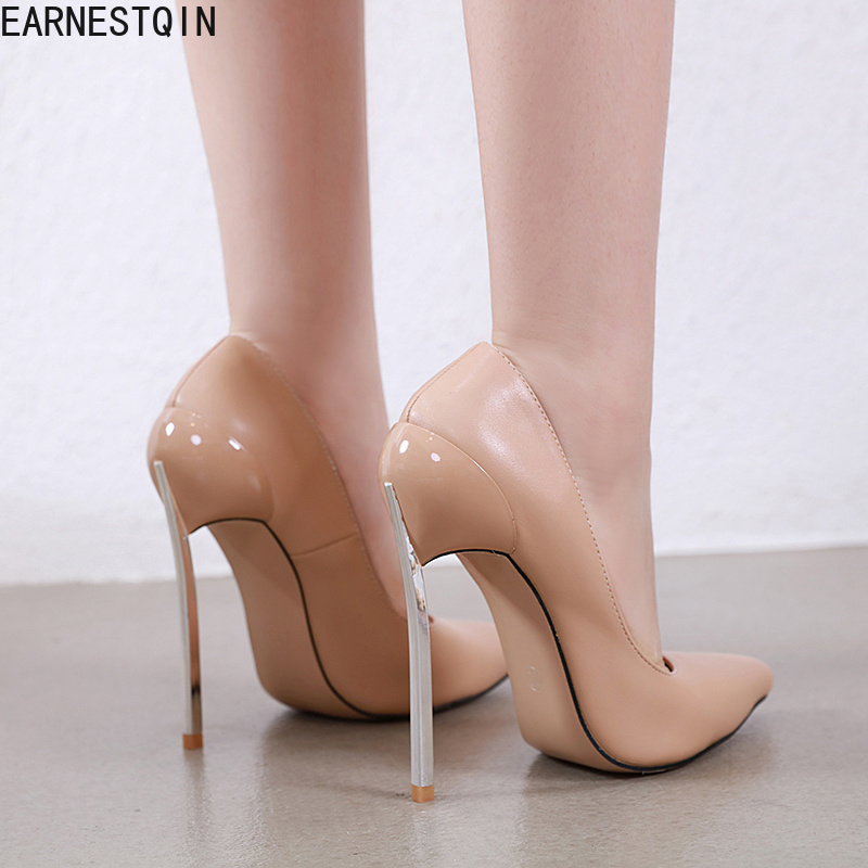 New Pointed Toe 13cm High Heel Women Pumps  Fashion Classic High Heel Women's Shoes 2 Colors SIZE 35-42