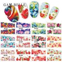 12 шт водные переводные наклейки для дизайна ногтей с разными
