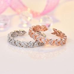 Ataullah кольцо из розового золота, Стерлинговое серебро 925, ювелирные изделия, кольца для женщин, ювелирные изделия с имитацией бриллиантов WNW155