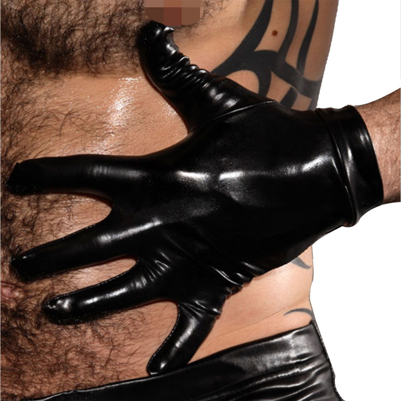 Sexy Patent Leather Performance Gloves Stage Performance Glove Nightclub Performance Gloves