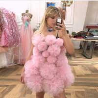 2020 горячая Распродажа многослойное фатиновое Пышное короткое торжественное платье элегантное розовое красное мини-платье на одно плечо дл...