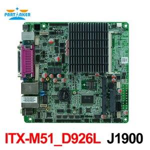 J1900 Bay trail Mini ITX материнская плата с двойным Gigabit Ethernet 6 * COM 8 * USB MINI-ITX-M51-D926L