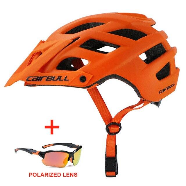 Capacete de bicicleta com óculos de sol integralmente-moldado estrada da bicicleta mtb capacete das mulheres dos homens esportes ao ar livre equitação ciclismo capacete 3