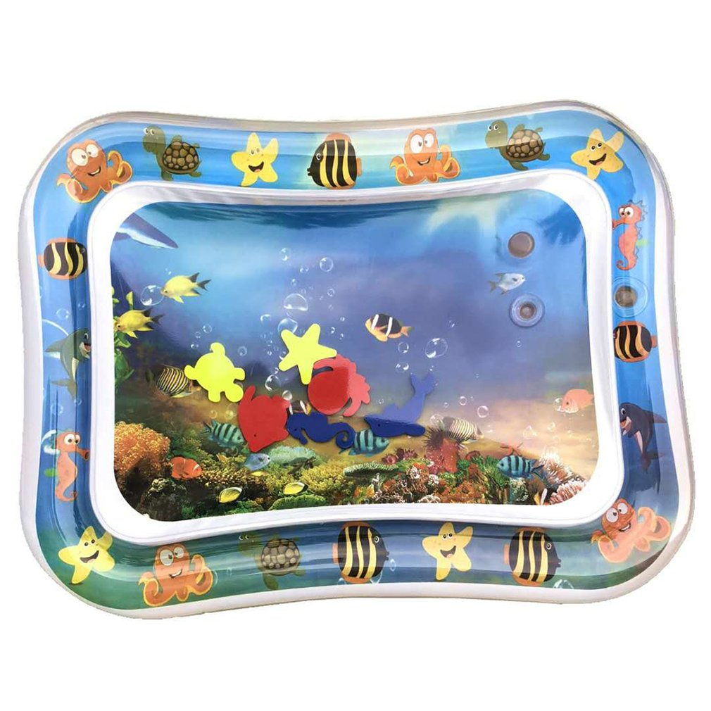 Baby Kids Water Play Mat Inflatable Infant Tummy Time Playmat Toddler for Baby Fun Activity Play Innrech Market.com