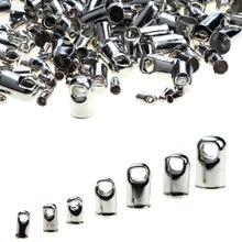 Olingart 1.2/1.5/2.0/2.5/3.2/3.5/4.2mm redondo cabo de couro língua fivela fechos ganchos diy tampas de extremidade jóias fazendo frete grátis