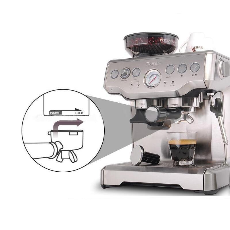 Espresso Coffee Maker Grind Beans Semiautomatic 15Bar Grinder Steam Coffe Machine 3