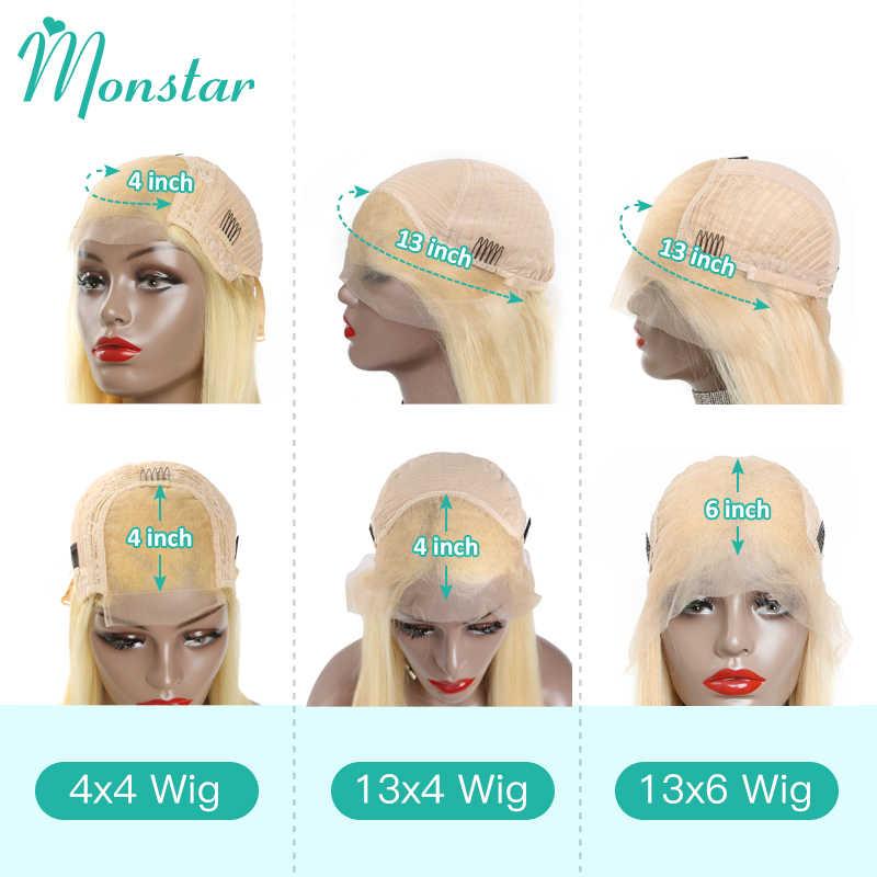 613 Blonde Spitze Front Menschliches Haar Perücken Brasilianische Remy Gerade 4x4 Spitze Schließung Perücke 1B 613 Ombre 13x4 13x6 Frontal Perücken für Frauen