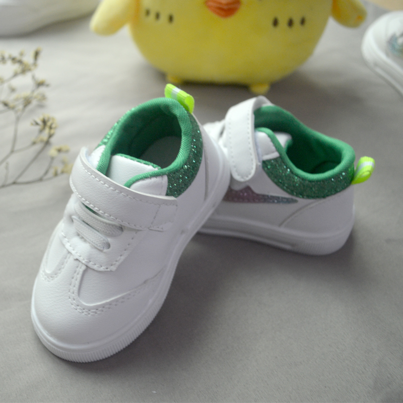 Colorful Rainbow Hook & Loop Classic Boys Baby White Shoes Infant Toddler Girls Sneaker Casual Kid First Walkers Sports Designed