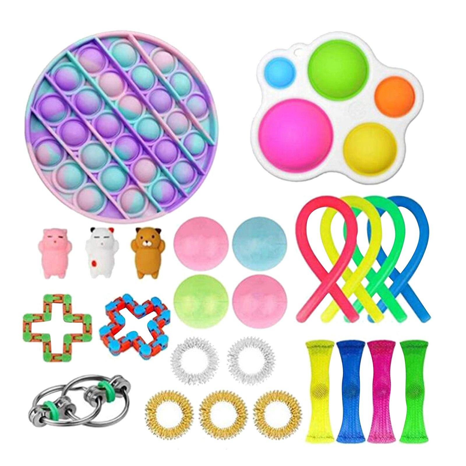 PopIt Round Push Bubble Fidget Toys Adult Stress Relief Toy Anti-stress PopIt Soft Squishy Anti-Stress Gift Anti-Stress Poppit img5