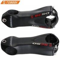 Toseek sc50 haste de carbono mtb bicicleta 10 graus comprimento 80/90/100/110mm para estrada ciclismo mountain bike peças 135g