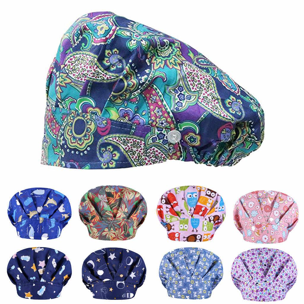 패션 만화 인쇄 작업 모자 캐주얼 남여 모자 수술실 모자 간호사 모자 방진 여름 부드러운 새로운 Sombreros 드 Mujer #35