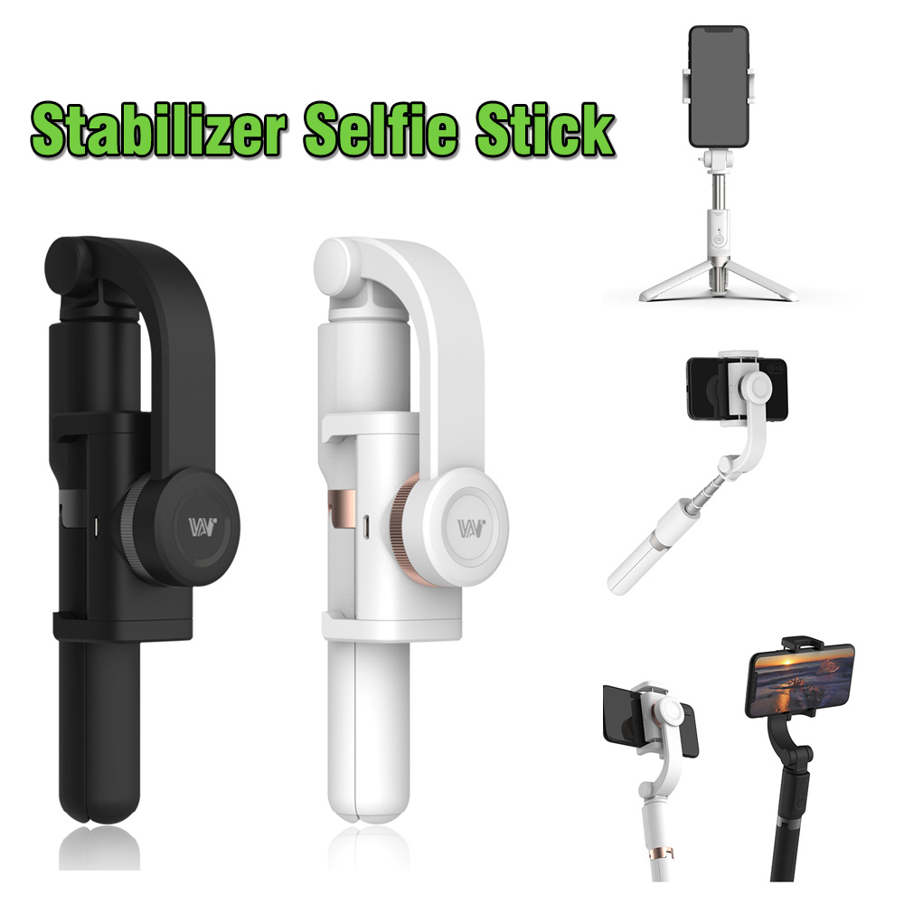 Multifunction 3 in 1 Mobile Phone Stabilizer Anti-Shake Rotating Tripod Bluetooth Handle Selfie Stick For Iphone Samsung Huawei