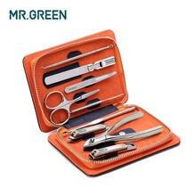 Маникюрный набор маникюрных инструментов mrgreen 9 в 1 для стрижки