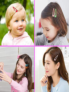 Hairgrip Clip-Pins Barrettes Snap Metal Girls Baby Solid-Color Women Children Mix