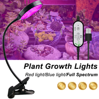 5V USB LED Grow Light Greenhouse Flower Seedling Fitolampy Adjustable 3-Head Timer Plant  Full Spectrum LED Plant Growth Lamp